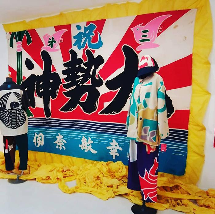 ハヤシカオリ個展2019-幟の服・大漁旗の服